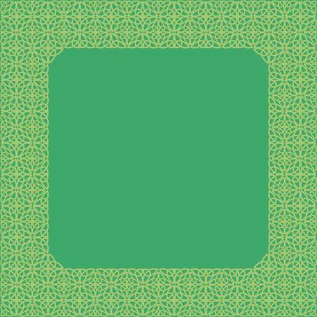 ethno: Frame consisting of a Celtic pattern of shamrocks. Element for design.