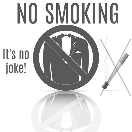 Sign of banning smoking, which shows a play on words