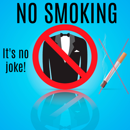 banning: Sign of banning smoking, which shows a play on words no smoking.