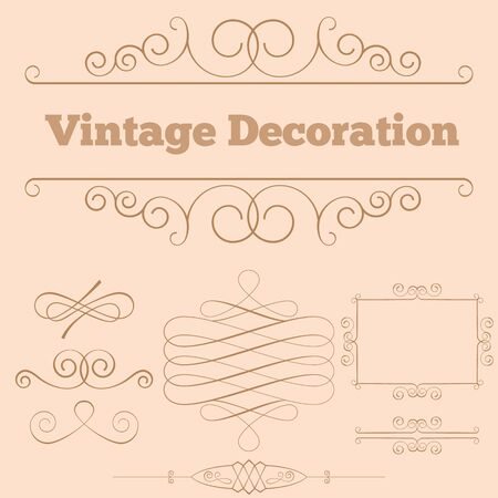 style: Elements for design executed in vintage style.