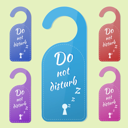 do not disturb: Set of multicolored signs Do not disturb! Illustration