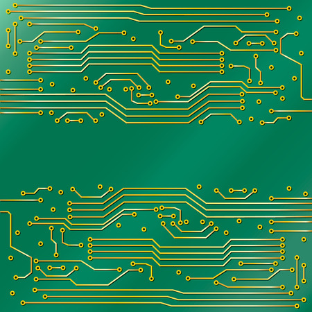 capacitor: Techno background stylized under a chip.