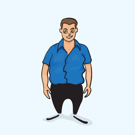 apparel part: Cartoon character for your business presentation.