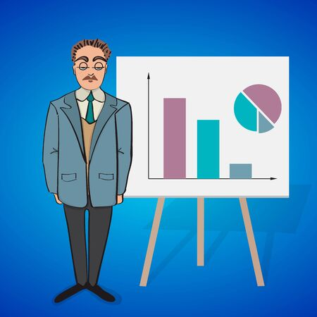 apparel part: Cartoon character (principal) for your business presentation. Illustration