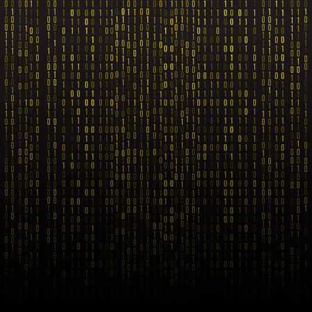 Abstract technology background. Binary Computer Code.