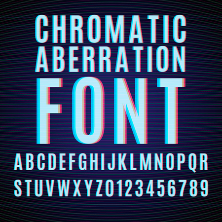 chromatic: Vector font with chromatic aberration effect.