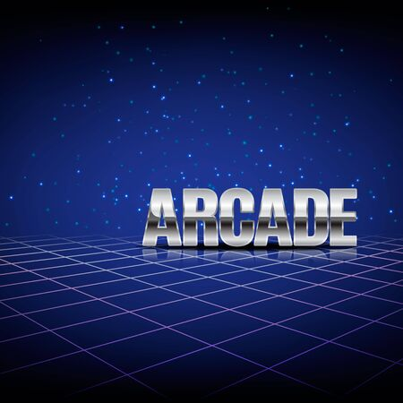arcades: Background in style arcades the 80s. Illustration