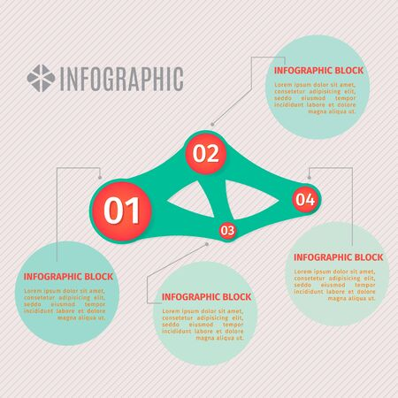 Vector info graphic template. Vector design consisting of the circles flowing each other.