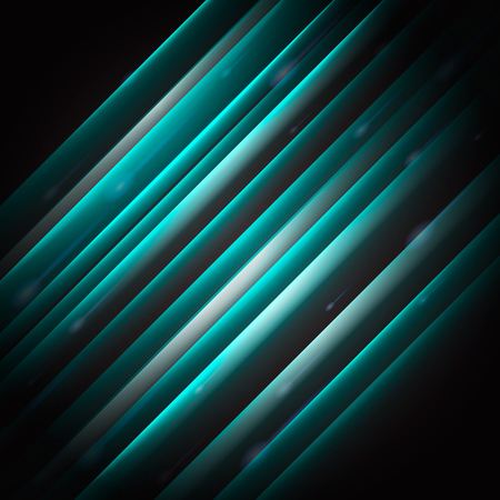 Vector abstract background. Inclined glowing stripes. Imagens - 66957813