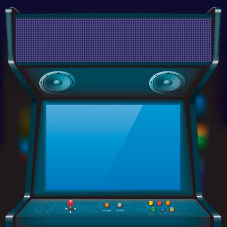 Retro arcade game machine. Vector illustration.