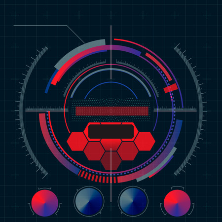 Heads-Up Display - HUD. Sci-Fi User Interface. Vector Illustration. Illustration