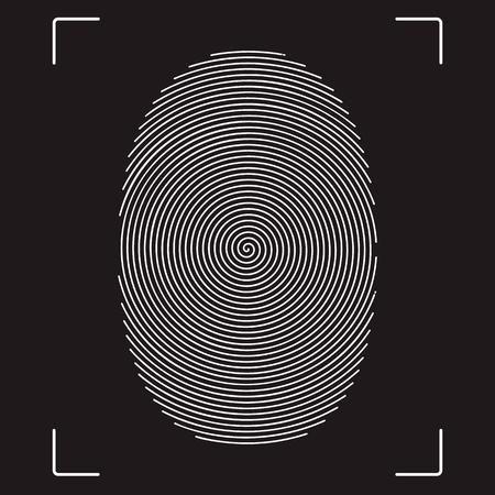 fingermark: Stylized vector image of the fingerprint. Illustration