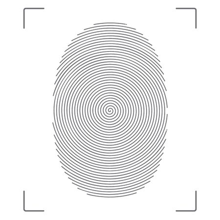 Stylized vector image of the fingerprint. Illustration