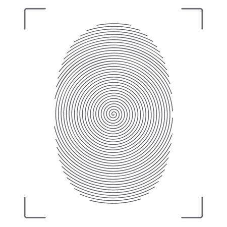 Stylized vector image of the fingerprint. Stock fotó - 69476998