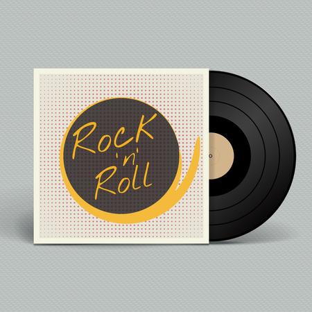 Vinyl record. Retro style. Vector illustration.