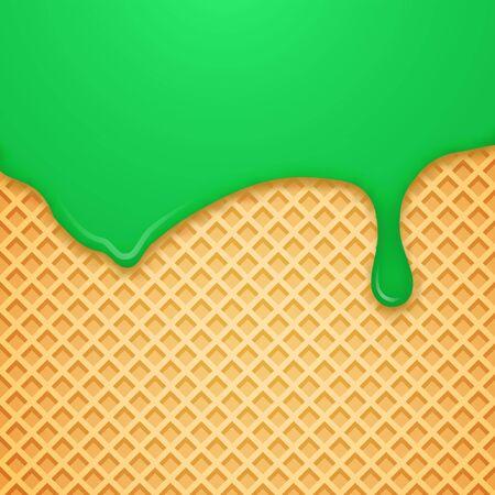Vector Waffle Background. Vector Illustration. Illustration