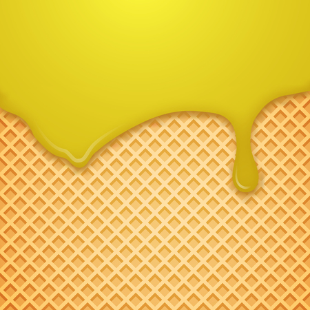 Vector Waffle Background. Vector Illustration. Stock Illustratie