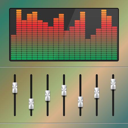 Vector Music Equalizer. Vector Illustration.