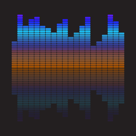 Vector Music Equalizer. Vector Illustration.