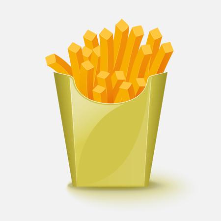 French fries potato. Vector illustration.