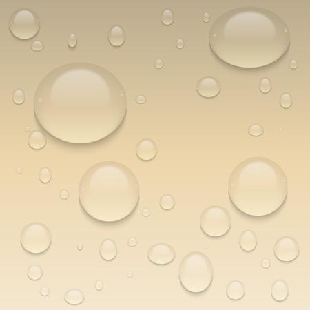 Realistische transparante druppels water. Vector achtergrond met druppels.
