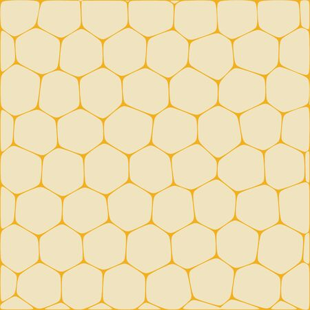 Abstract vector background imitating honeycombs. Net from cells of organic form.