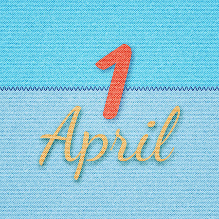 April 1. April Fools Day. Vector illustration to the first of April. Illustration