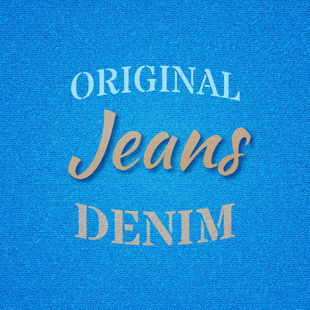 Font composition on the theme of jeans. Vector illustration. Illustration