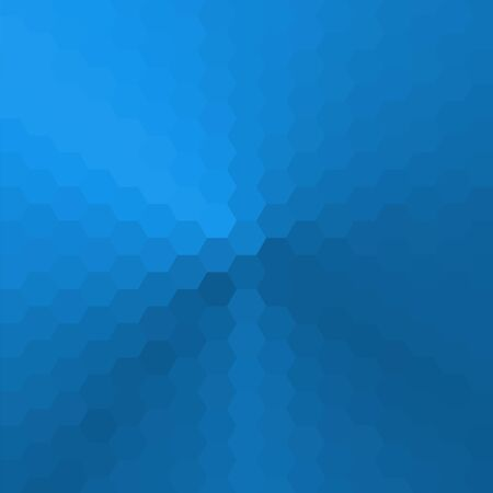 Vector abstract background consisting of hexagons, painted with a cone gradient.