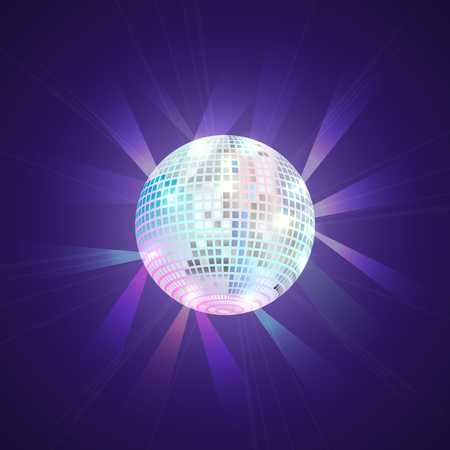 Disco ball, executed  in style arcades the 80s.