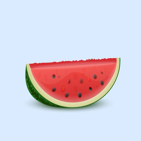 Watermeloen op een lichte achtergrond. Vector illustratie.