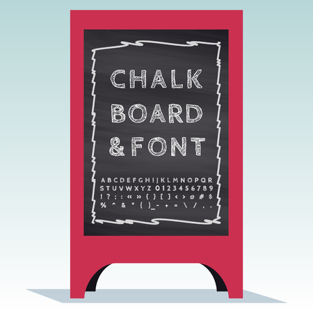 Advertising Street Sandwich Stand with chalkboard and chalk font.