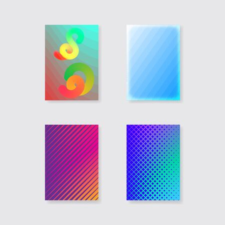 Design of covers in minimalist style. Simple geometry. Bright vector template.