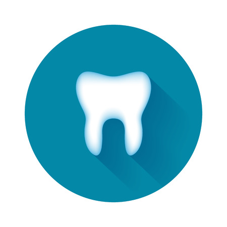 Tooth icon. Simple design on stomatology. Vector illustration.