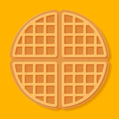 Round waffle. Vector illustration. Ilustração