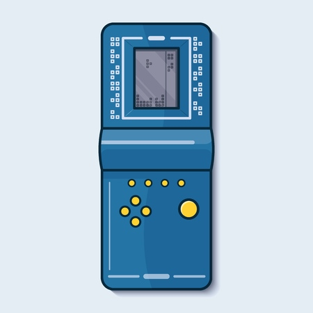 Retro game machine. Vector illustration.