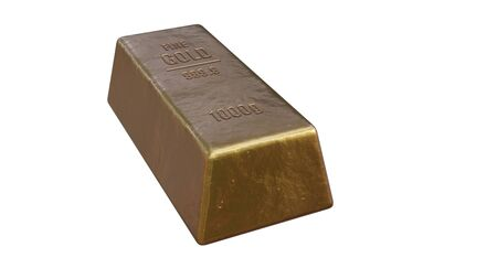 Gold bar Isolated on a white background. 3d render.
