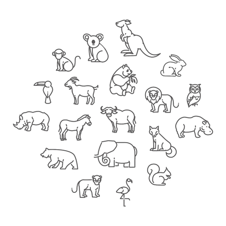 animal: animal icons. Illustration