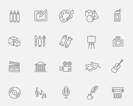 Outline art Icon set