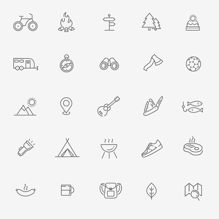 Camping and Outdoor Activities icons