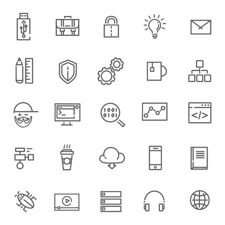 programming code: Code, programming vector line icon