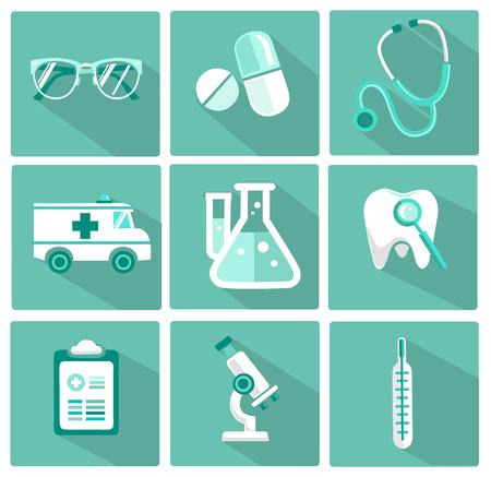 platte vector medische icoon. geneeskunde