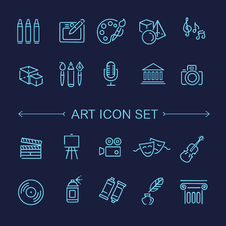 gaz: Outline vector art Icon set Illustration