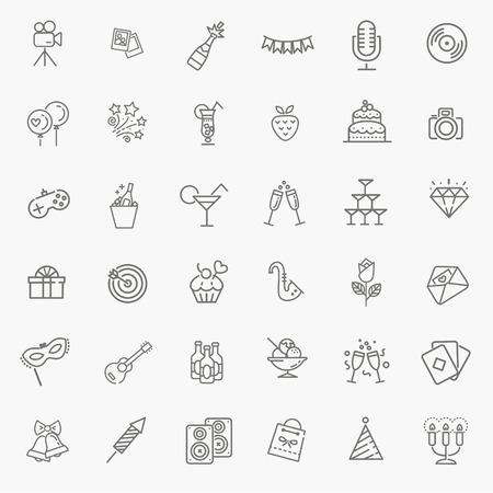 vettore web icon set - Party, Compleanno, Vacanze Vettoriali