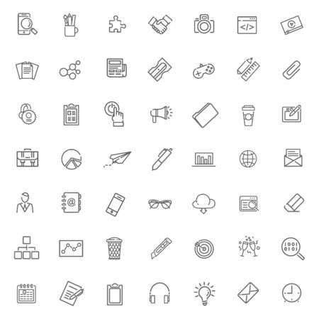 event icon: Thin outline icons set. Icons for business and digital marketing