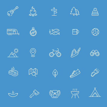outdoor activities: Camping and Outdoor Activities icons