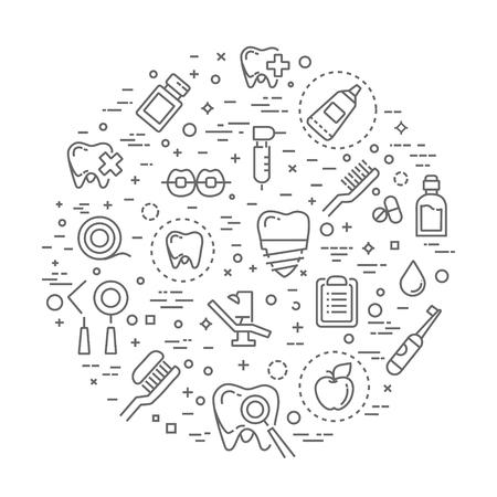 Ensemble d'icônes de ligne web - dentiste, médecine, santé Banque d'images - 78825781
