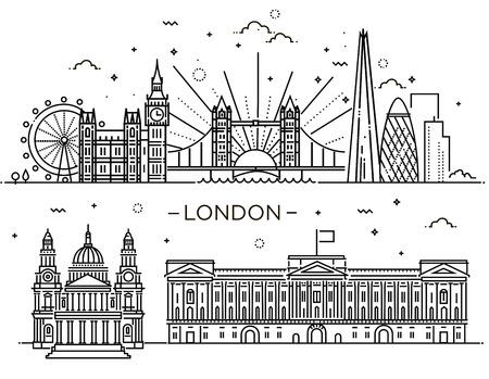 ロンドン市内の線形のバナーです。
