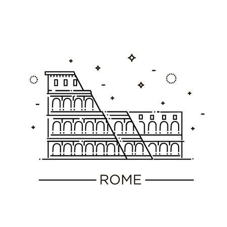 Colosseum in Rome icon. Stock Photo - 87388609