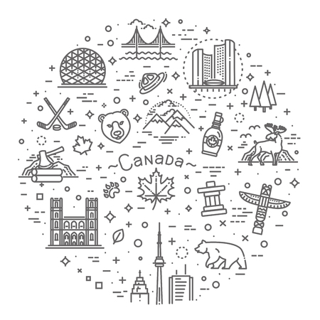 Travel to Canada traditional objects.